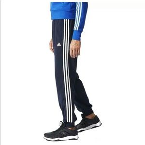 New! Mens Adidas ETricot 3 Stripe Tapered Pants